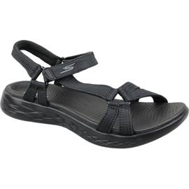 Czarne Sandały Skechers On The Go 600 W 15316-BBK