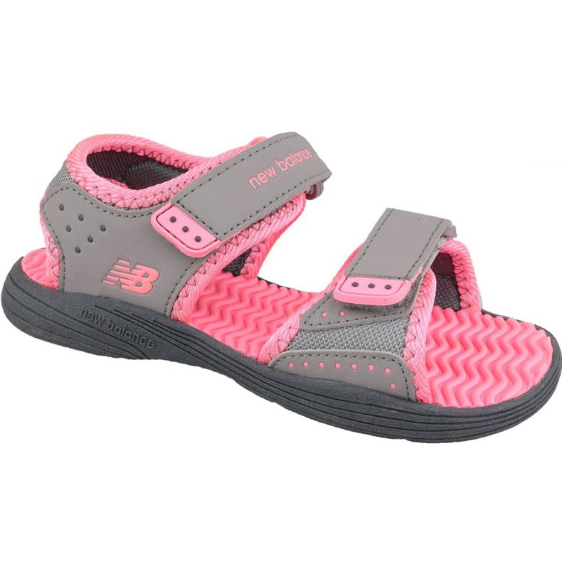 Sandały New Balance Jr K2004PKG szare różowe