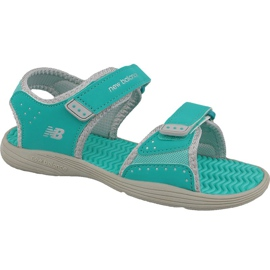 Sandały New Balance Jr K2004GRG niebieskie zielone