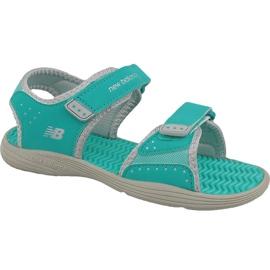Zielone Sandały New Balance Jr K2004GRG niebieskie