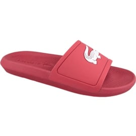 Klapki Lacoste Croco Slide 119 1 M 737CMA001817K czerwone