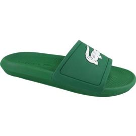 Klapki Lacoste Croco Slide 119 1 M 737CMA00181R7 zielone