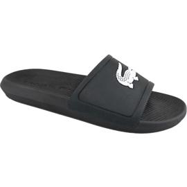 Czarne Klapki Lacoste Croco Slide 119 1 M 737CMA0018312