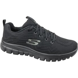Czarne Buty Skechers Graceful Get Connected W 12615-BBK