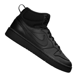 Czarne Buty Nike Court Borough Mid 2 Boot (GS) Jr BQ5440-001