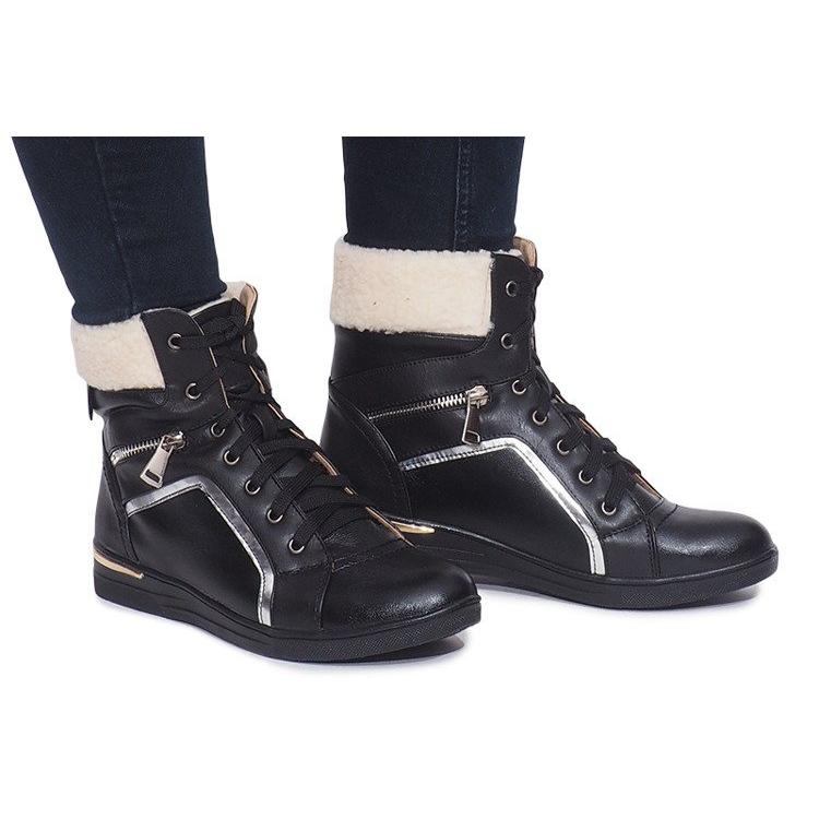 Ocieplane Sneakersy RY93022-1 Czarny czarne