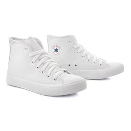 Białe Wysokie Trampki TL11 Biały