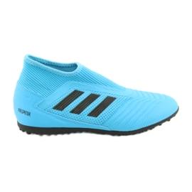 Buty piłkarskie adidas Predator 19.3 Ll Tf Jr EF9041 niebieskie