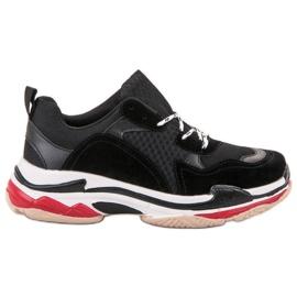 SHELOVET Casualowe Buty Sportowe czarne wielokolorowe