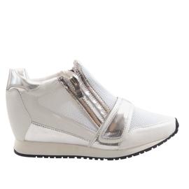 Modne Proste Sneakersy SK48 Biały białe