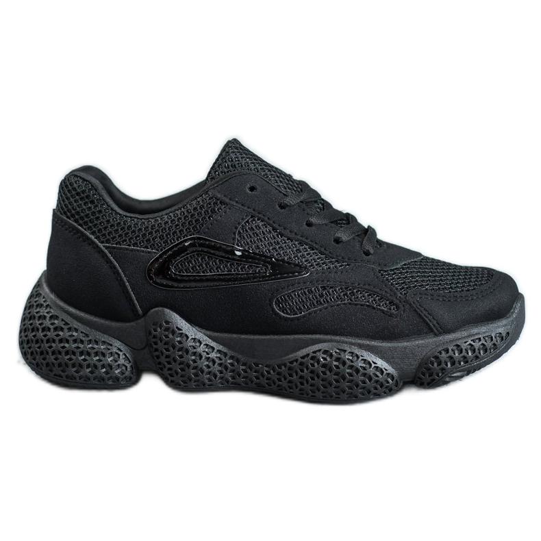 SHELOVET Tekstylne Buty Sportowe czarne