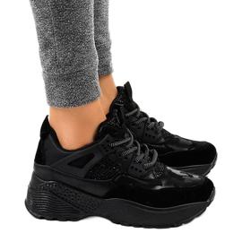 Czarne modne damskie obuwie sportowe C2