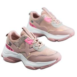 SHELOVET Modne Buty Sportowe różowe