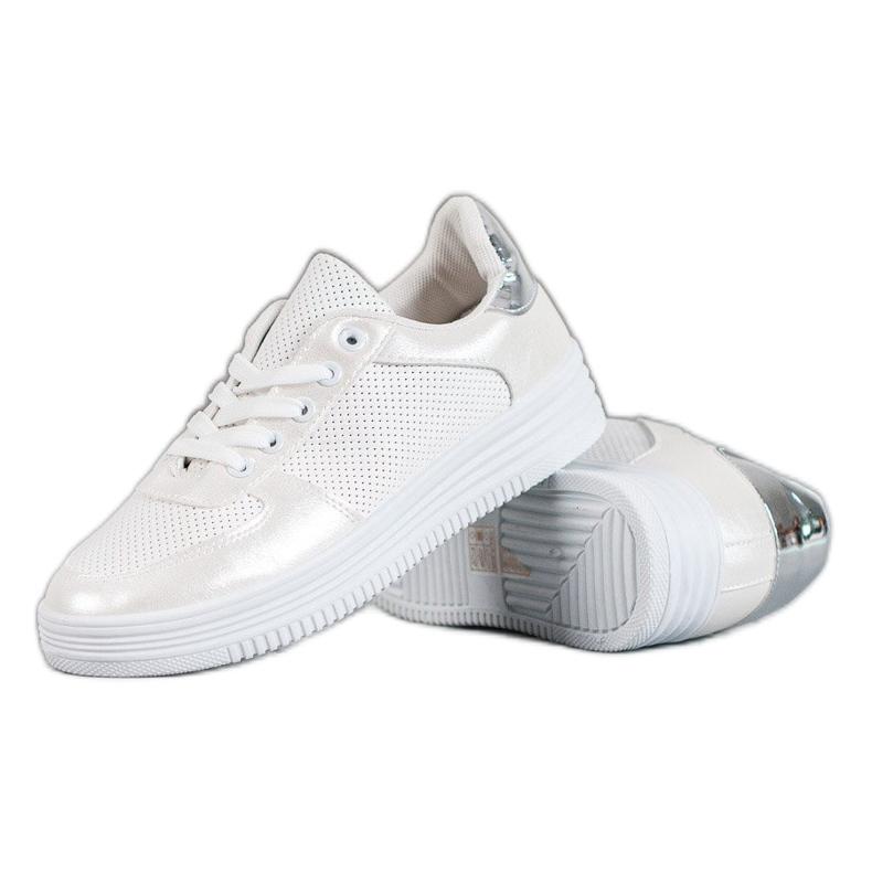 Jumex Wiązane Buty Sportowe białe