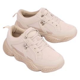 Buty sportowe beżowe BD-5 Beige brązowe