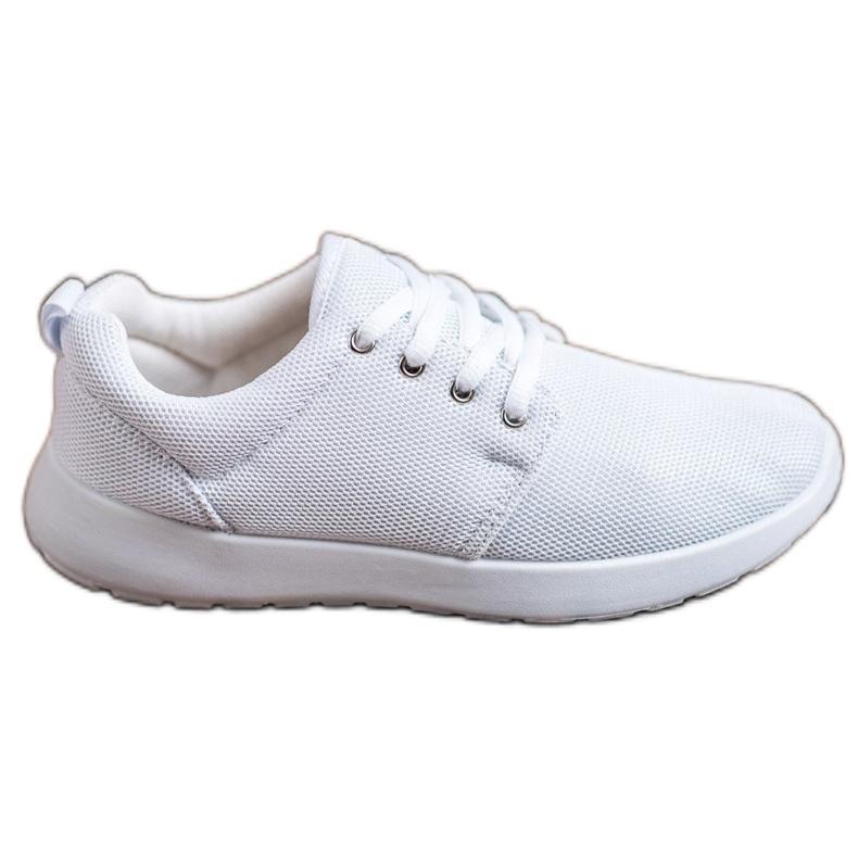 SHELOVET Tekstylne Obuwie Sportowe białe