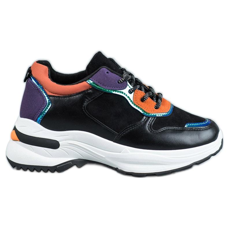 SHELOVET Casualowe Sneakersy czarne
