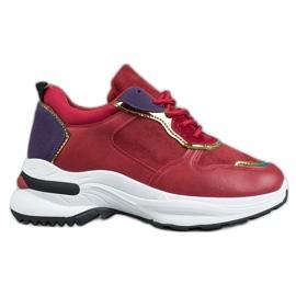 SHELOVET Casualowe Sneakersy czerwone