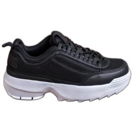SHELOVET Modne Buty Sportowe czarne