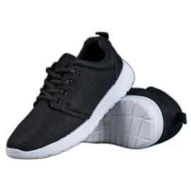 SHELOVET Tekstylne Obuwie Sportowe czarne