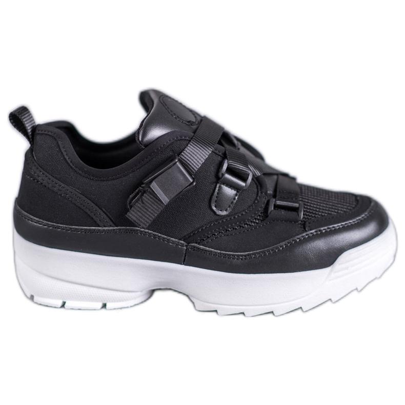 SHELOVET Czarne Buty Sportowe Fashion