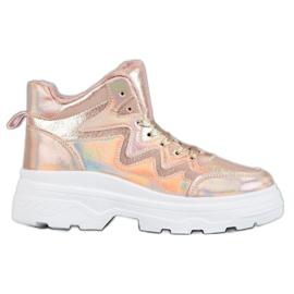 Seastar różowe Ocieplane Sneakersy