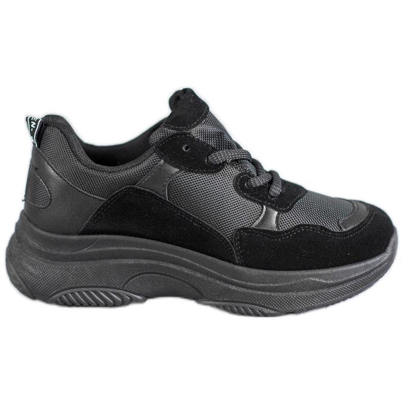 SHELOVET Czarne Buty Sportowe