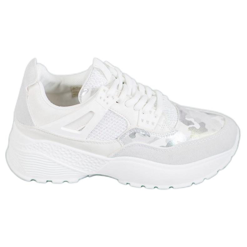 SHELOVET Białe Sneakersy Moro