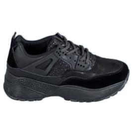 SHELOVET Czarne Sneakersy Moro