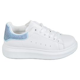 Yes Mile białe Buty Sportowe Z Kryształkami