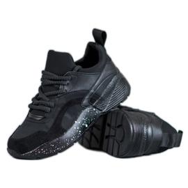 Muto Wygodne Sneakersy Moro czarne