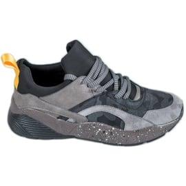 Muto Wygodne Sneakersy Moro szare