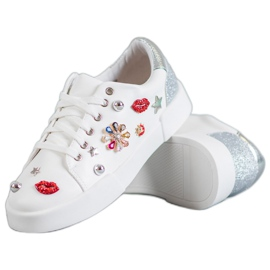 Bestelle białe Buty Sportowe Z Naszywkami