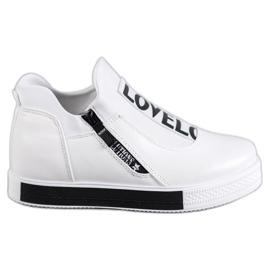 SHELOVET białe Sportowe Obuwie Love