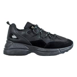 Muto Buty Sportowe Z Brokatem czarne
