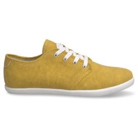 Żółte Trampki Męskie 3307 Żółty