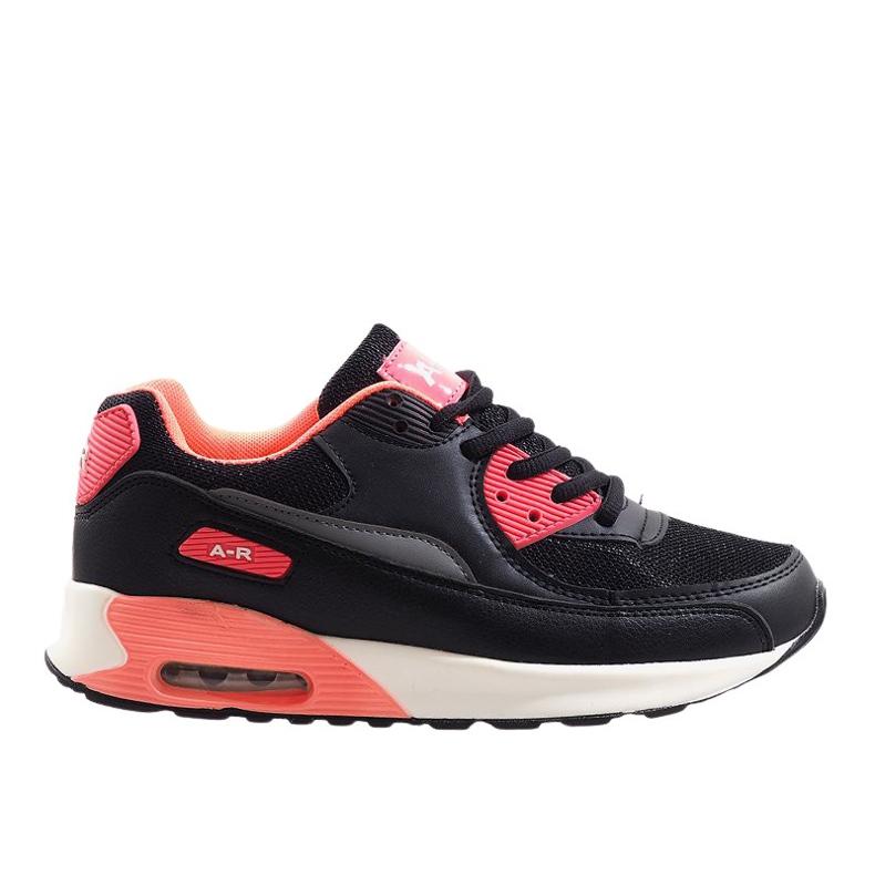 Czarne obuwie sportowe B306A-41 różowe wielokolorowe