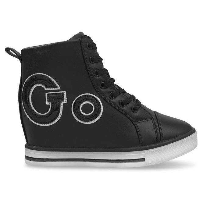 Modne Sneakersy Go GFA108 Czarny czarne