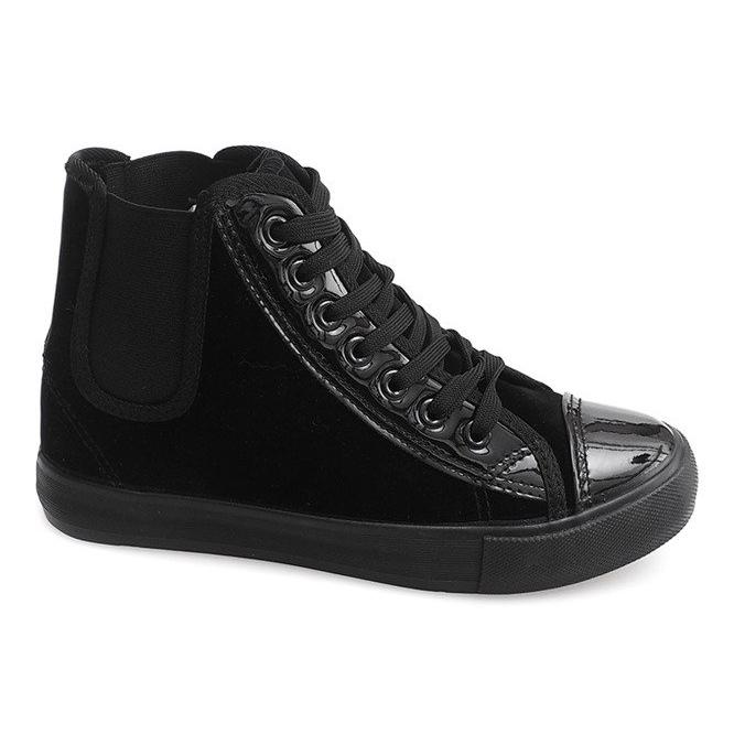 Wysokie Trampki JX-96 Czarny czarne
