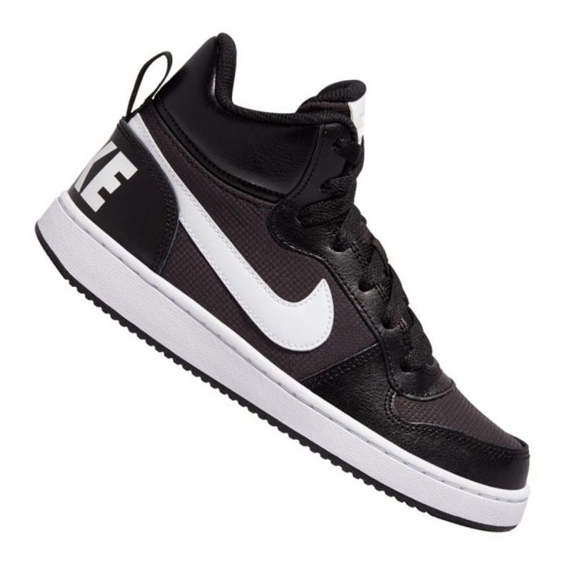 Buty Nike Court Borough Mid Pe (GS) Jr BV1607-001 czarne