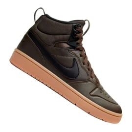 Czarne Buty Nike Court Borough Mid 2 Boot (GS) Jr BQ5440-200