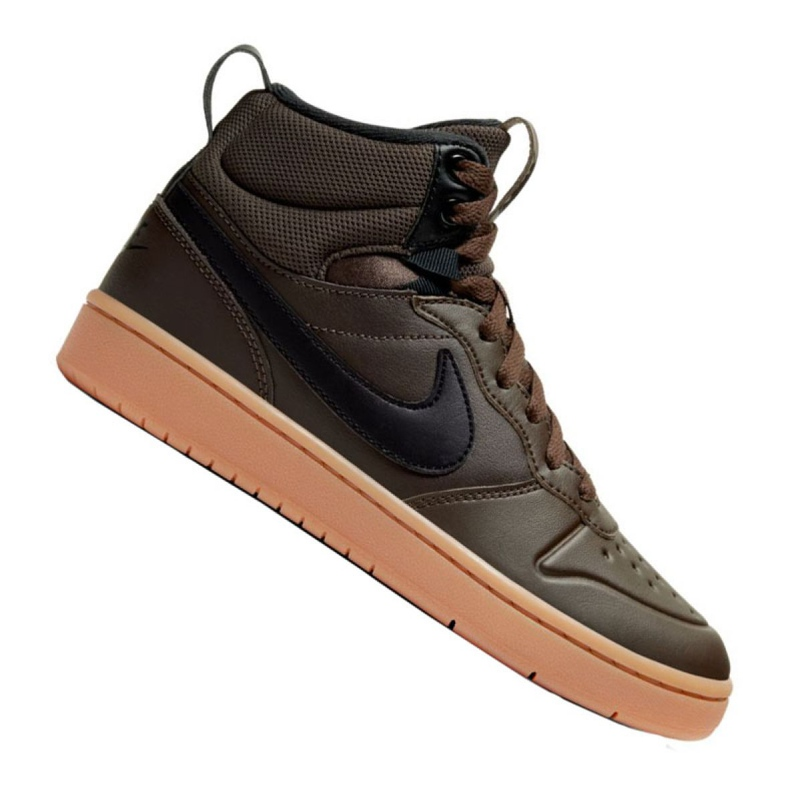 Buty Nike Court Borough Mid 2 Boot (GS) Jr BQ5440-200 czarne