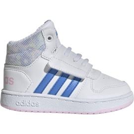 Białe Buty adidas Hoops Mid 2.0 I Jr EE8550