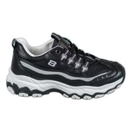 Yes Mile Sneakersy Z Brokatem czarne