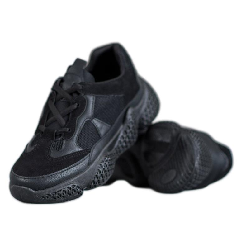 SHELOVET Czarne Sneakersy Damskie