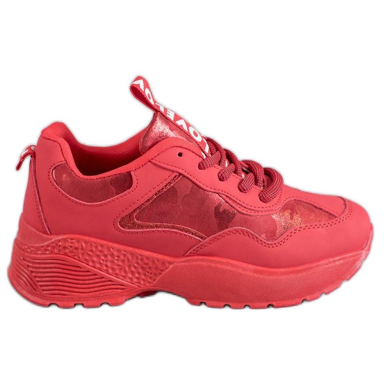 SHELOVET Czerwone Sneakersy Moro