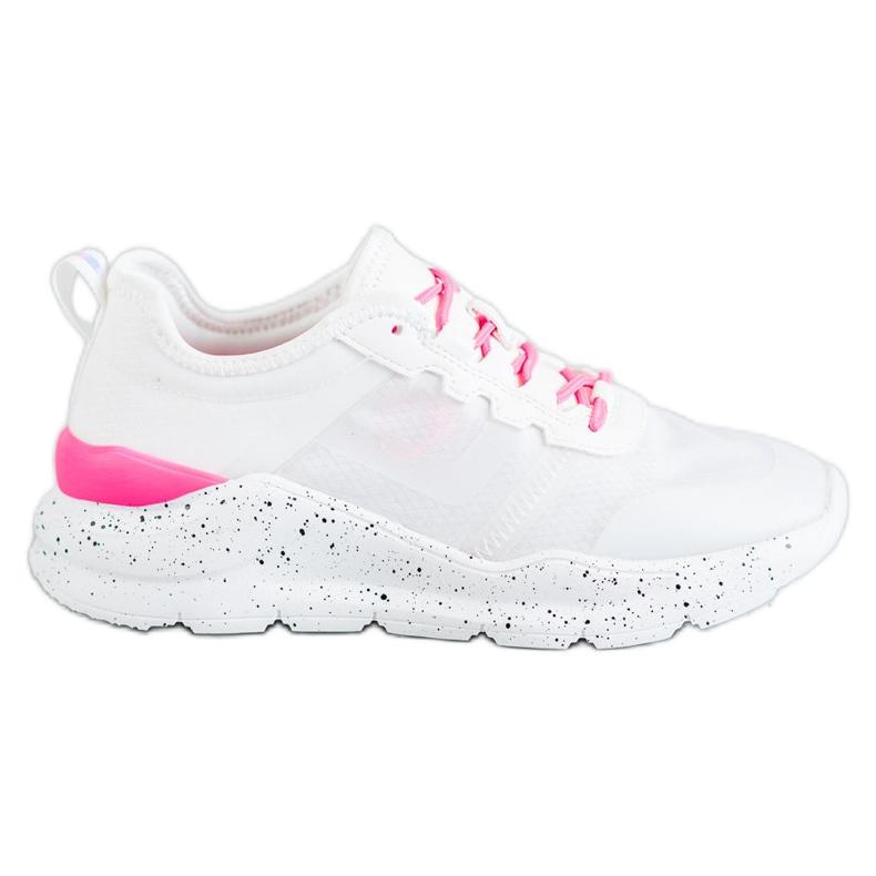 Kylie Klasyczne Obuwie Sportowe białe różowe