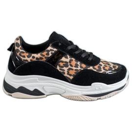 Kylie Sneakersy Leopard Print czarne wielokolorowe