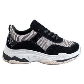 Kylie Sneakersy Zebra Print czarne wielokolorowe