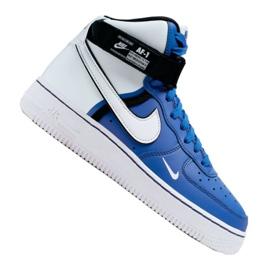 Buty Nike Air Force 1 High LV8 2 Jr CI2164-400 biało-niebieskie